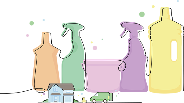Cleaning products delivered home graphic