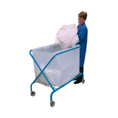 Folding Waste Cart with Translucent Vinyl Bag