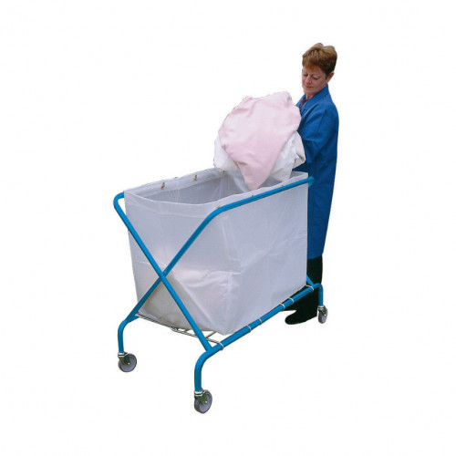 Folding Waste Cart with Translucent Vinyl Bag