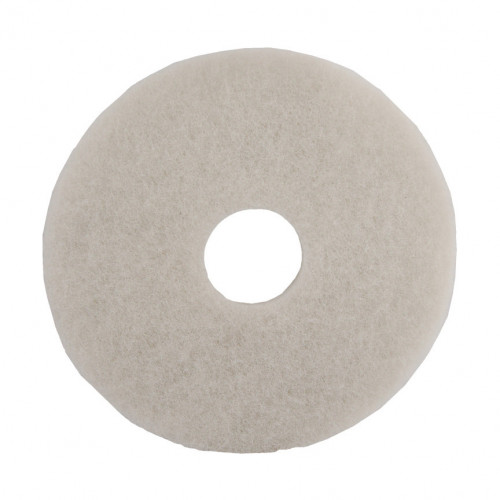 "White 15"", Polishing, Floor Pads"