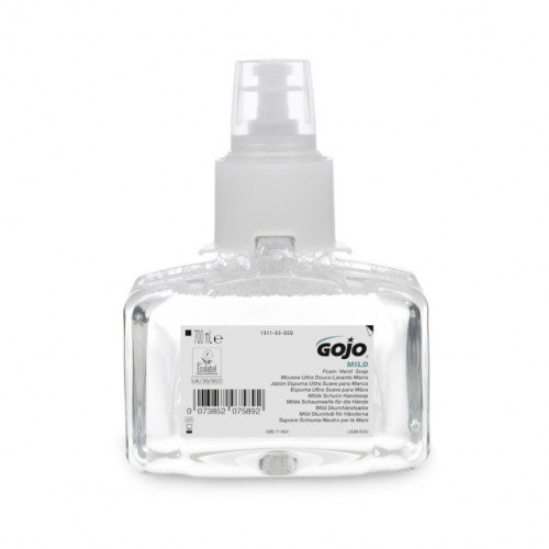 700ml Gojo Mild Foam Fragrance Free Foam Soap Cartridge