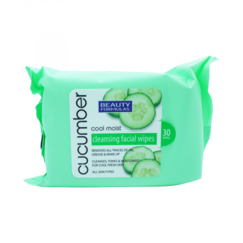 Beauty Formulas Cleansing Facial Wipes Cucumber Cool Moist 30 Wipes
