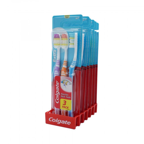 Colgate Extra Clean Toothbrush - 3 Pack