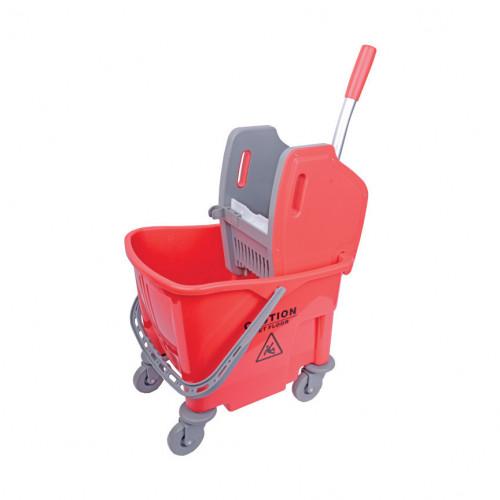 25L Red Heavy Duty Mop Bucket