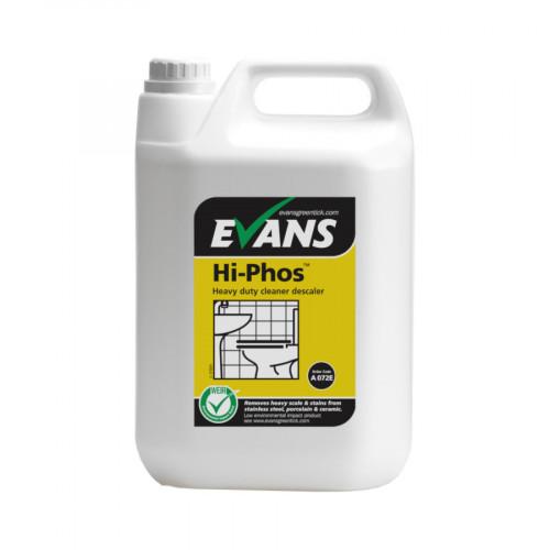 Toilet Cleaner & Descaler - Hi-Phos Heavy Duty - 5L - Case of 1