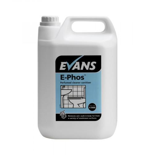 Evans Vanodine E-Phos Perfumed Washroom Cleaner & Sanitiser - 5L