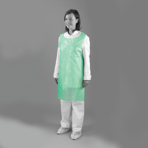 """Aprons - On a Roll - 60g - 42"""" - Green - Case of 1000"""