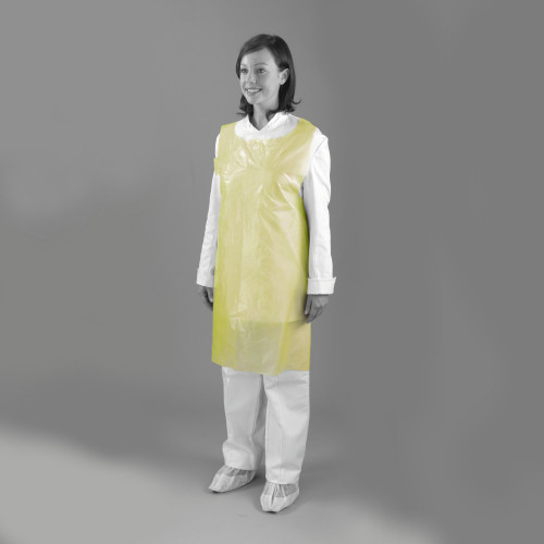 """Aprons - On a Roll - 60g - 42"""" - Yellow - Case of 1000"""