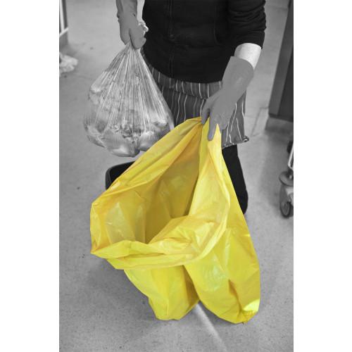 Yellow bin liner