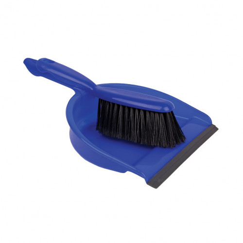 Blue Soft Dustpan and Brush