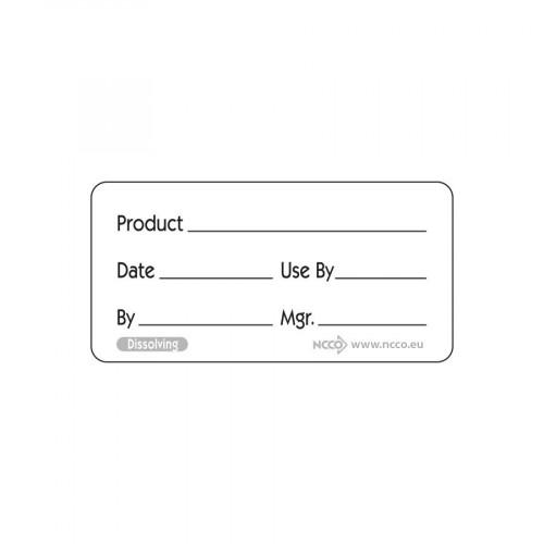 Dissolvable 2.5cm Prepared Food Label