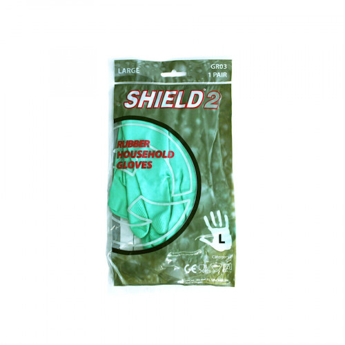 Gloves - Standard Rubber - Large - Green - Case of 144
