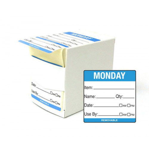 5cm Monday Day of the Week Labels