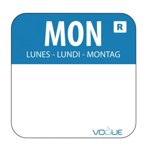 Monday 2.4cm Day of the WeekLabels