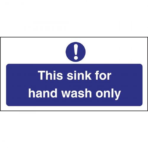 Handwash Only Sign