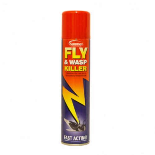 300ml Sanmex Fly and Wasp Killer Aerosol Spray