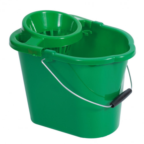 10L Green Plastic Mop Bucket