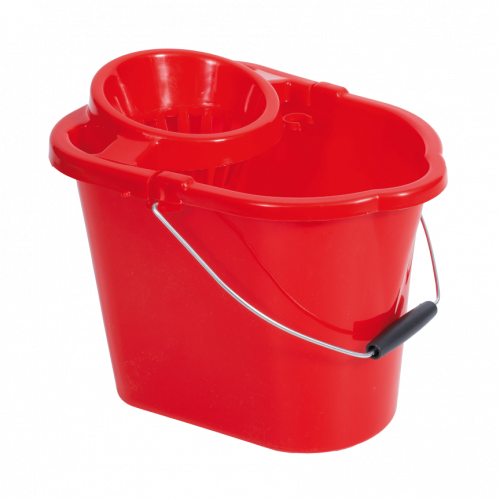 10L Red Plastic Mop Bucket