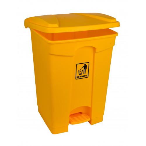 45L Yellow Pedal Bin