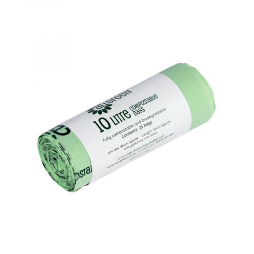 All Green Compostable Bin Liner 10lt - 100 Bags