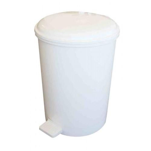 12L White Pedal Bin