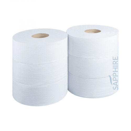 "Toilet Rolls - Jumbo Recycled - 400m - 2 1/4"" Core  - Case of 6"
