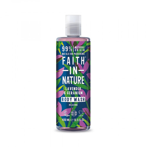 Faith in Nature Lav and Ger 400ml Body Wash