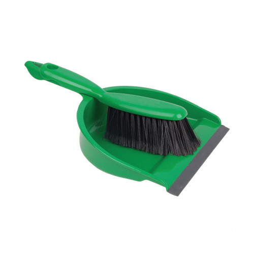 Green Soft Dustpan and Brush