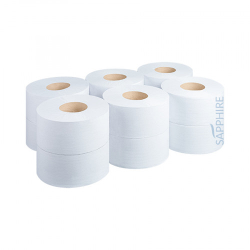 "Sapphire Mini Jumbo Toilet Rolls – 150m 2 ¼"" core"